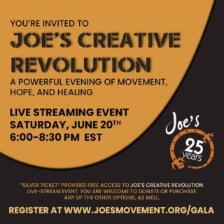 Join @joesmovement this weekend for Joe's Creative Revolution: A Powerful Evening of Movement, Hope and Healing. Joe's Movement Emporium and Creative Suitland (@creativesuitland) artists will perform original pieces relevant to this extraordinary moment. Community leaders and special guests will offer ideas to help cope during these unprecedented circumstances. They will also honor their 2020 Mighty Joe Awardees, Joe's 25 years of serving their community, and create a DJ-led musical space to grieve, affirm, connect, hope, and move forward, as one nation under a groove. Click the link in our bio to reserve your ticket today ✨ • • • #dcdance #dancemetrodc #202creates