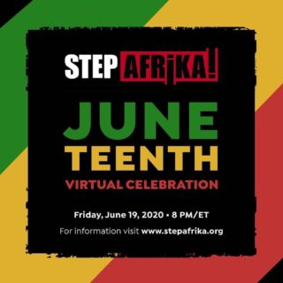 Repost from @atlaspacdc • Join our Resident Arts Partner @StepAfrika! tomorrow, Friday June 19 at 8pm for a Virtual Celebration.  Step Afrika! honors the rhythm, spirituality, and resistance of the African American community through dance and song during a world premiere of their virtual Juneteenth Celebration streaming on facebook and youtube. Register today for free, for exclusive access and an opportunity to support the continued success of Step Afrika! here: bit.ly/StepAfrikaJuneteenth2020  www.stepafrika.org @StepAfrikaCast  #202creates #DCDance ##SA!Juneteenth  #StepAfrika #Celebration #StepDance