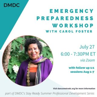 Register today!! We are delighted to have Carol Foster facilitate Tuesday's FREE virtual Emergency Preparedness Workshop.  There will also be individual sessions with DMV registrants the week following the workshop. Register for the Live or Recorded session to take advantage of this unique opportunity.  As the world re-opens and as the dance community prepares for the future, we're grateful to have Carol's expertise and guidance.  To register, click on the link in the bio. See you on Tuesday!!