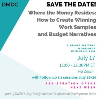 We are thrilled to announce our Summer Professional Development Series will kick off with DC's Holly Bass! Holly is an expert in her field and will show you ways individual artists and dance organizations can get the most out of grants.  This workshop is free to the public and open to everyone regardless where they reside.  Not only will Holly be facilitating this workshop, she'll also be offering one on one sessions with those currently in the DMV.  Registration opens next week. Save the Date and Stay Ready!