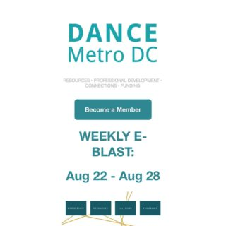 There's a lot of new and exciting events happening in the DMV! Keep track and stay up to date by signing up for our weekly newsletter. This week's events include:  - A Mali workshop by @nidembaya - A hip hop master class with Chris Andrews by @avadanceco  - Dancer's Roulette with @thelionsdendmv on Monday - Hip Hop with @ariti.dorsey on Wednesday - @mddanceed Grant Writing Workshop on Thursday - @janefranklindance will be performing this Friday - And a Reboot Workshop with @capitolmovement on Saturday  Sign up for our newsletter at https://dancemetrodc.org/contact/ and don't forget to add your events and classes at https://dancemetrodc.org/add-an-event/.  All links are in our bio!