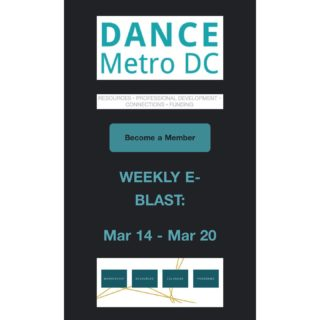 Our weekly e-Blast is out! Featured this week is @danceplacedc, @dancingourafrica, @nachmodc, @thewashingtonballet, @thelionsdendmv, @danceexchange, and @localmotionprojectva. If you have an event or class, please submit them on our website at dancemetrodc.org (link in bio) or tag us on social media. We're here to spread the word!