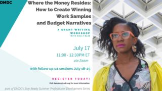 Registration for Saturday July 17th's Grant Writing Workshop with Holly Bass opens on Monday! We encourage all individual artists and dance organizations to attend to learn how they can get more money out of grants. Holly will also be giving free private sessions with DMV residents who register for this event. We only have a limited number of slots available for the 1:1 sessions, so keep an eye out for the live registration link!  This workshop is free and open to anyone in the United States. Click on the link in our bio for detailed information about the workshop and private session.